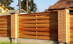 Забор «Плетенка» деревянный