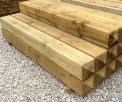 Столб деревянный для забора 90х90