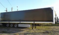 Semi-trailers are tentovanny