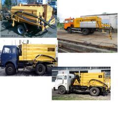 Installation for repair of roads (the repair