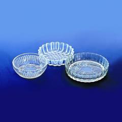 Salad bowls, sockets, saltcellars glass