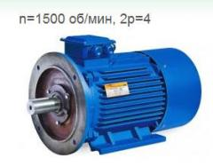 Electric motors common industrial n=1500 of rpm,