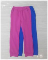 Спортивные трикотажные брюки для девочки код 0126