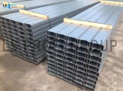 Production of galvanized steel profiles