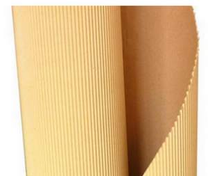 Corrugated cardboard in roll of any brand brown