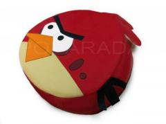 Furniture nursery game. Padded stool Red Bird of