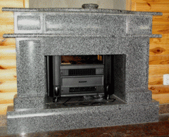 Fireplaces from natural granite