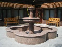 Fountains from granite and marble