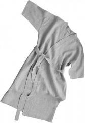 Льняные халаты (ткань лен/хлопок), серые