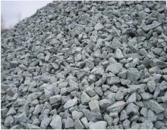 Crushed stone secondary. Loose, road materials,