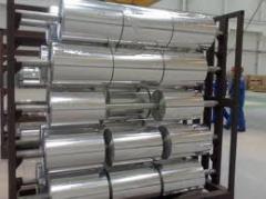 Фольга алюминиевая чистая и с печатью для упаковки