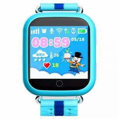 Детские часы-телефон с GPS-трекером Q100 голубые
