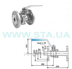Crane of steel (KZShS) sharovy flange Du =40mm