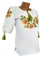 Женская вышитая рубашка в больших размерах с...