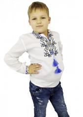Детская вышиванка для мальчика из натуральных