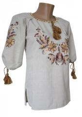 Стильная женская вышитая рубашка с вышивкой...