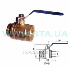 Вентиль и кран сферический STA для воды 50 мм ВН из латуни