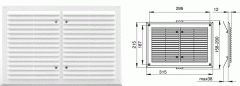 Вентиляционная решетка - 215х315 мм, арт.1124