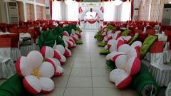 Pneumoflowers (pneumogarland, inflatable flowers)