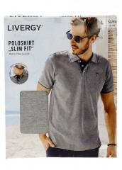M22-270018, Мужская футболка поло, мужской, серый