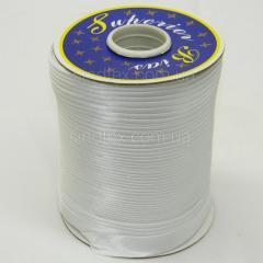 3001 косая бейка атласная, белая (6-2274-М-3001)