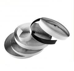 23м. Липучка клеевая 2,5см самоклеющаяся, ЧЕРНАЯ (Velcro) (657-Л-0176)