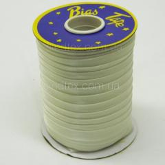 3002 Косая бейка атласная, (молочного цвета) (6-2274-М-3002)