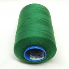 Армированные нитки Super 20/2 зеленые 5000 ярдов (6-2274-М-А081)
