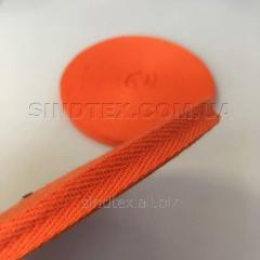 Оранжевая киперная лента 1 см (киперная тесьма 10мм) (6-БК-017)