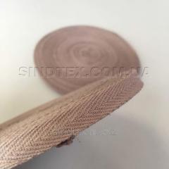 Кофейная киперная лента 2 см (киперная тесьма 20мм) (6-БК-208)