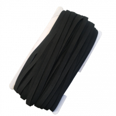 НА МЕТРАЖ Резинка черная с силиконом для бретель, ширина 1см (УМН-660-0009)