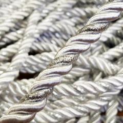 Декоративный шнур для натяжных потолков, БЕЛЫЙ С СЕРЕБРОМ 10 мм (1-2123-08)