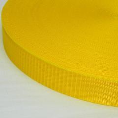 Желтая тесьма сумочная-ременная, 3см (657-Л-0587)