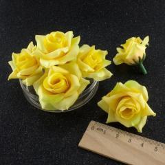 """(10шт) Головы искусственных цветов """"Роза с"""