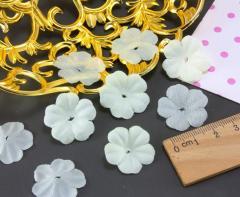 (10 ГРАММ 260 шт) Заготовка для цветка, пресс Ø24мм Цвет - Молочный (сп7нг-2086)