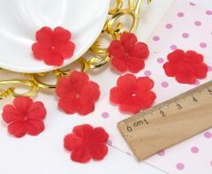 (10 ГРАММ 260 шт) Заготовка для цветка, пресс Ø24мм Цвет - Красный (сп7нг-2089)