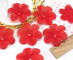 (10 ГРАММ 60 шт) Заготовка для цветка, пресс Ø55мм Цвет - Красный (сп7нг-1562)