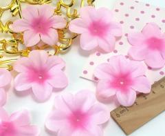 (10 ГРАММ 60 шт) Заготовка для цветка, пресс Ø55мм Цвет - Нежно розовый (сп7нг-1564)