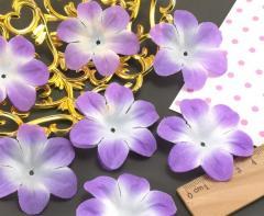 (10 ГРАММ 60 шт) Заготовка для цветка, пресс Ø55мм Цвет - Бело-сиреневый (сп7нг-1565)