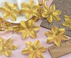 (10 ГРАММ 130 шт) Заготовка для цветка, пресс Ø48мм (Люрекс) Цвет - Золото (сп7нг-1830)