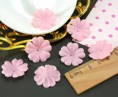 (10 ГРАММ 260 шт) Заготовка для цветка, пресс Ø24мм Цвет - Розовый (сп7нг-2091)