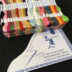 (100шт по 8м) Набор мулине (нитки для вышивания) Цвета - МИКС (657-Л-0432)