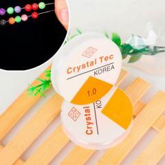 (1ММ) Силиконовая нить резинка (прозрачная) для бижутерии 1 мм 5 метров (круглое сечение) (сп7нг-0825)