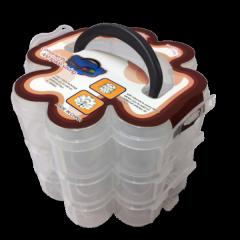 14х12х3,5см пластиковая тара (чемоданчик, контейнер, органайзер) для рукоделия и шитья (657-Л-0210)