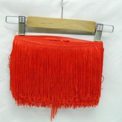 Бахрома для бальных платьев 15см х 9м -04 (красный) (653-Т-0395)