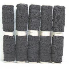 Нитка резинка в катушке, черная (657-Л-0054)
