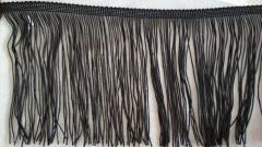 Бахрома для бальных платьев 14см х 10м - ЧЕРНАЯ (657-Л-0184)