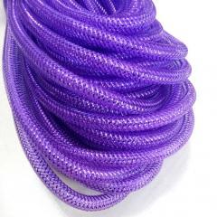 (28-30метров, D-10мм) Регилин трубчатый с люрексом. Цвет - фиолетовый (657-Л-0498)