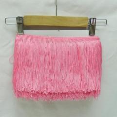 Бахрома для бальных платьев 15см х 9м -07 (розовый) (653-Т-0402)