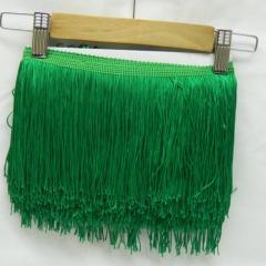 Бахрома для бальных платьев 15см х 9м -11 (зеленый) (653-Т-0430)